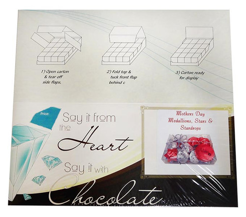 Chocolate Gems  - Blossom Pack - Mother s Day Medallions, Hearts & StarDrops, by Chocolate Gems,  and more Confectionery at The Professors Online Lolly Shop. (Image Number :12780)