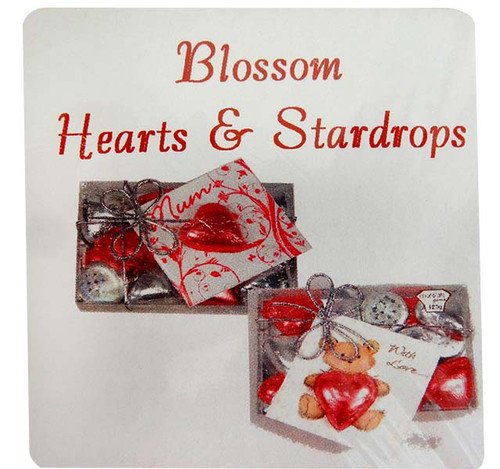 Chocolate Gems - Blossom Pack - Hearts and StarDrops, by Chocolate Gems,  and more Confectionery at The Professors Online Lolly Shop. (Image Number :12777)