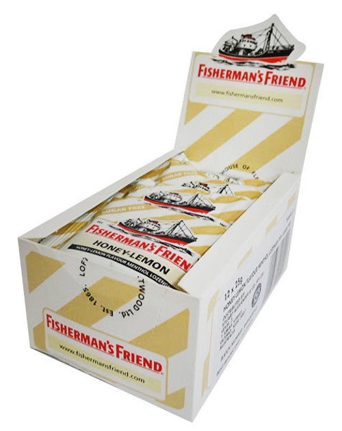 Fishermans Friend - Honey - Lemon Menthol, by Lofthouse,  and more Confectionery at The Professors Online Lolly Shop. (Image Number :16421)