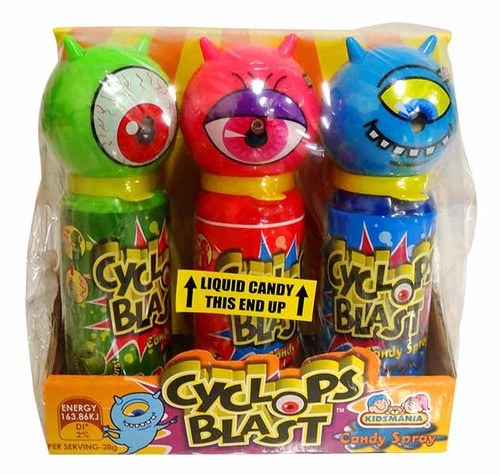 Cyclops Blast Candy Spray, by Kidsmania,  and more Confectionery at The Professors Online Lolly Shop. (Image Number :12773)