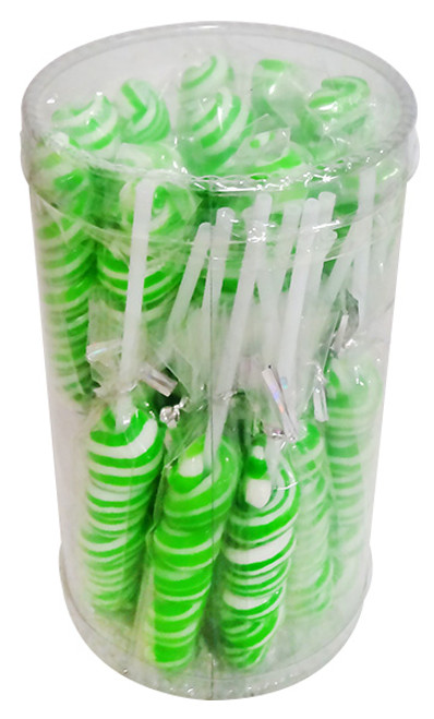 Sweet Treats Twist Pops - Green, by Brisbane Bulk Supplies,  and more Confectionery at The Professors Online Lolly Shop. (Image Number :12874)