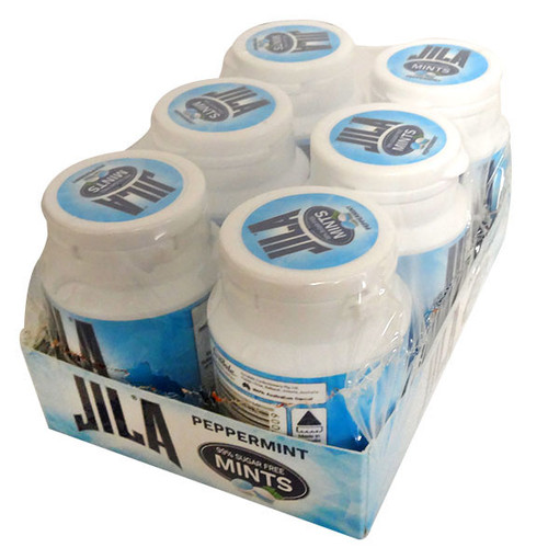 Jila  99% Sugar Free Mints - Peppermint, by Ferndale Confectionery/Jila,  and more Confectionery at The Professors Online Lolly Shop. (Image Number :13220)