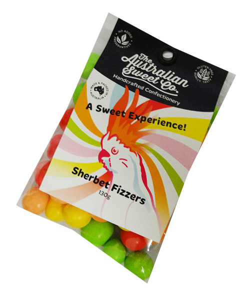 Sherbet Fizzers, by The Australian Sweet Company,  and more Confectionery at The Professors Online Lolly Shop. (Image Number :16527)