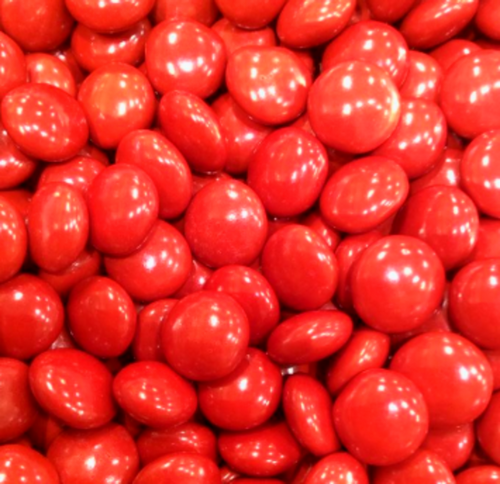 Candy Showcase Choc Buttons - Red and more Confectionery at The Professors Online Lolly Shop. (Image Number :12796)