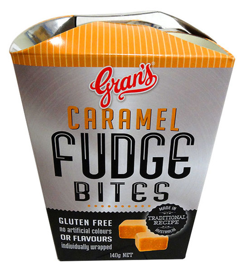 Grans Fudge Bite  - Caramel Fudge, by Grans,  and more Confectionery at The Professors Online Lolly Shop. (Image Number :13696)