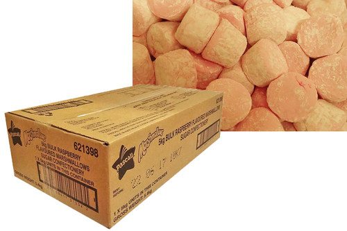 Pascall Pink Marshmallow Cylinders - Short Date Special 15/08/2019, by Pascall,  and more Confectionery at The Professors Online Lolly Shop. (Image Number :12799)