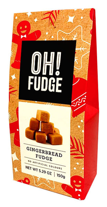 OH! Fudge - Gingerbread Flavoured Fudge and more Confectionery at The Professors Online Lolly Shop. (Image Number :13530)