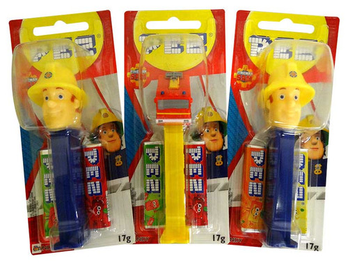 Pez Candy Dispensers -Fireman Sam, by Pez,  and more Confectionery at The Professors Online Lolly Shop. (Image Number :13636)