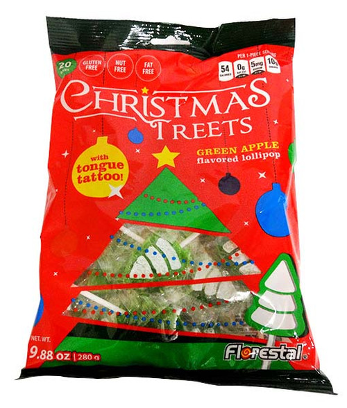 Florestal Christmas Tree Lollipops with Tongue Tattoo and more Confectionery at The Professors Online Lolly Shop. (Image Number :15797)