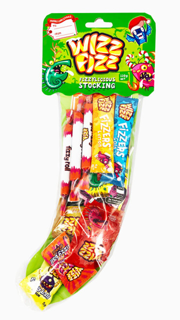 Wizz Fizz Christmas Stocking and more Confectionery at The Professors Online Lolly Shop. (Image Number :13364)