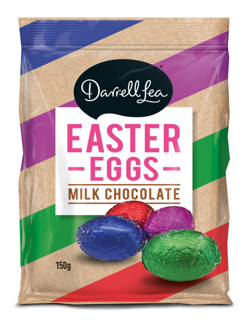 Darrell Lea Foiled milk Chocolate Solid Eggs and more Confectionery at The Professors Online Lolly Shop. (Image Number :13888)