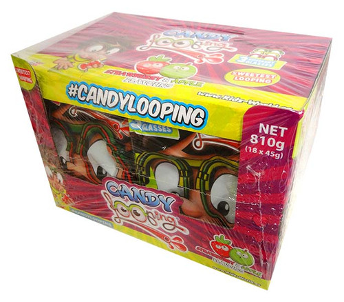 Candy Looping Glasses - 3 Colours and more Confectionery at The Professors Online Lolly Shop. (Image Number :13684)