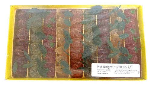 Belgian Pate De Fruit - 62 Fruit Jellies with Stalk and more Confectionery at The Professors Online Lolly Shop. (Image Number :13787)