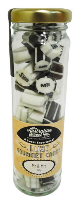 Mr & Mrs Luxe Rock Candy and more Confectionery at The Professors Online Lolly Shop. (Image Number :16630)