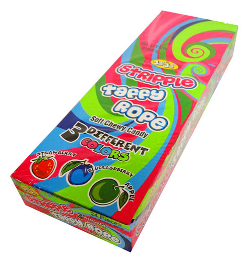 JoJo Stripple Taffy Rope - Multicolour and more Confectionery at The Professors Online Lolly Shop. (Image Number :13972)