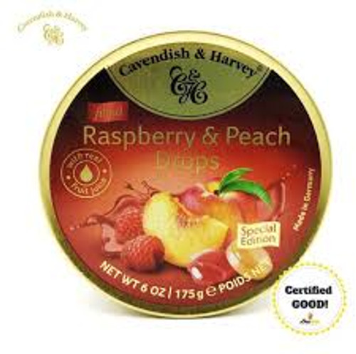 Cavendish & Harvey - Raspberry & Peach and more Confectionery at The Professors Online Lolly Shop. (Image Number :13411)
