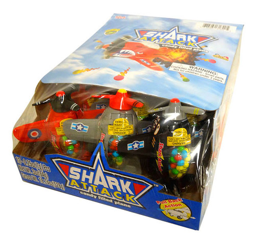 Shark Attack Candy Filled Planes and more Confectionery at The Professors Online Lolly Shop. (Image Number :13705)