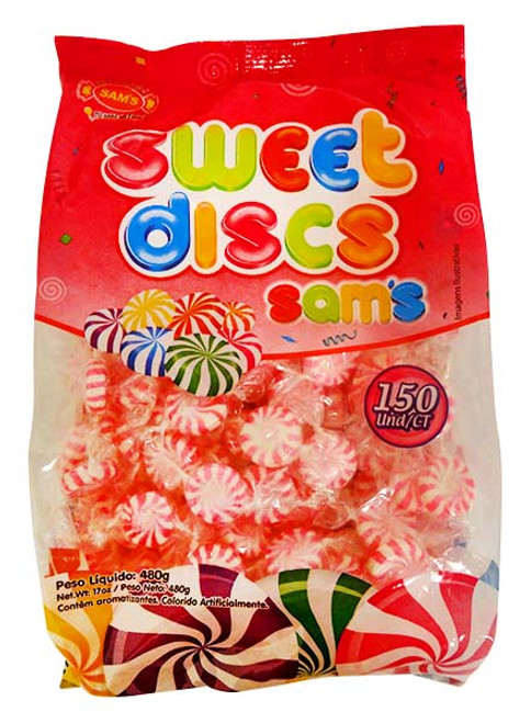 Sweet Discs Pink & White, by AIT Confectionery,  and more Confectionery at The Professors Online Lolly Shop. (Image Number :14263)
