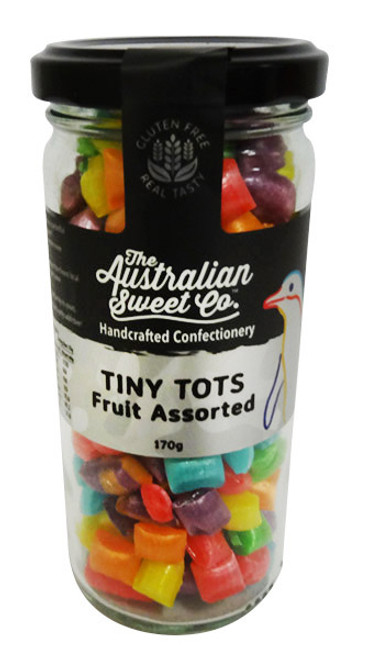 Tiny Tots - Fruit Assorted, by The Australian Sweet Company,  and more Confectionery at The Professors Online Lolly Shop. (Image Number :16700)