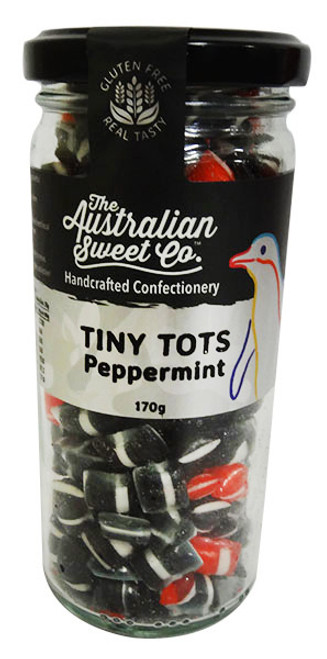 Tiny Tots - Peppermint, by The Australian Sweet Company,  and more Confectionery at The Professors Online Lolly Shop. (Image Number :16236)