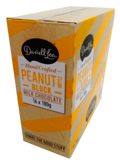 Darrell Lea Peanut Brittle Chocolate Block, by Darrell Lea,  and more Confectionery at The Professors Online Lolly Shop. (Image Number :13824)