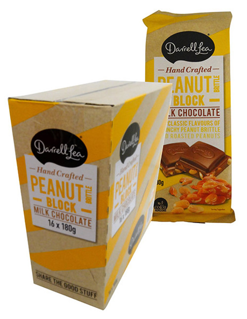 Darrell Lea Peanut Brittle Chocolate Block, by Darrell Lea,  and more Confectionery at The Professors Online Lolly Shop. (Image Number :13882)