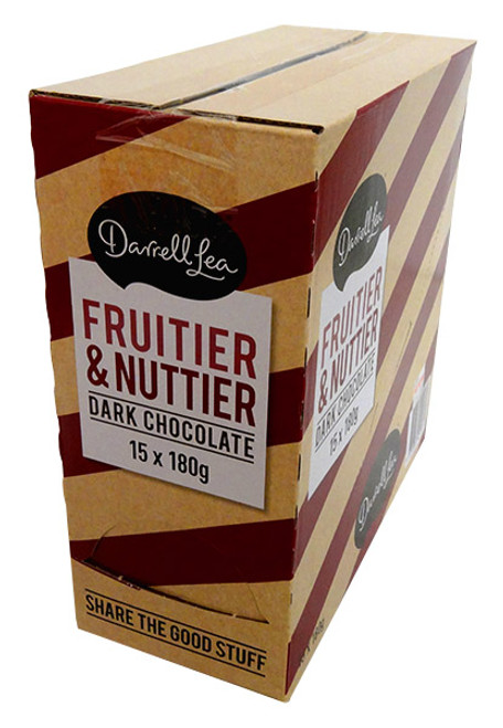 Darrell Lea Fruit and Nuttier Block, by Darrell Lea,  and more Confectionery at The Professors Online Lolly Shop. (Image Number :13822)