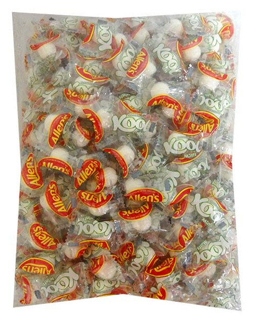 Allens Kool Mints - 1kg bag of Wrapped individual mints, by Allens Confectionery,  and more Confectionery at The Professors Online Lolly Shop. (Image Number :13772)
