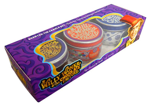 Willy Wonka & The Chocolate Factory Scented Candle Set and more Other at The Professors Online Lolly Shop. (Image Number :13852)