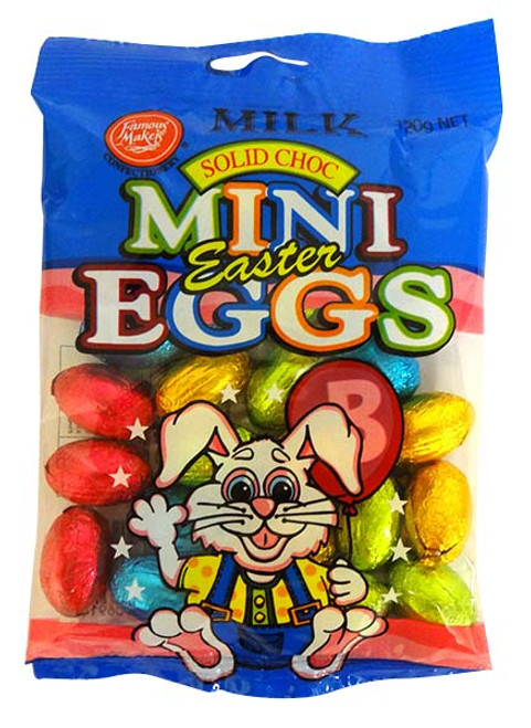 Milk Choc Mini Eggs -  RUNOUT SPECIAL and more Confectionery at The Professors Online Lolly Shop. (Image Number :14634)