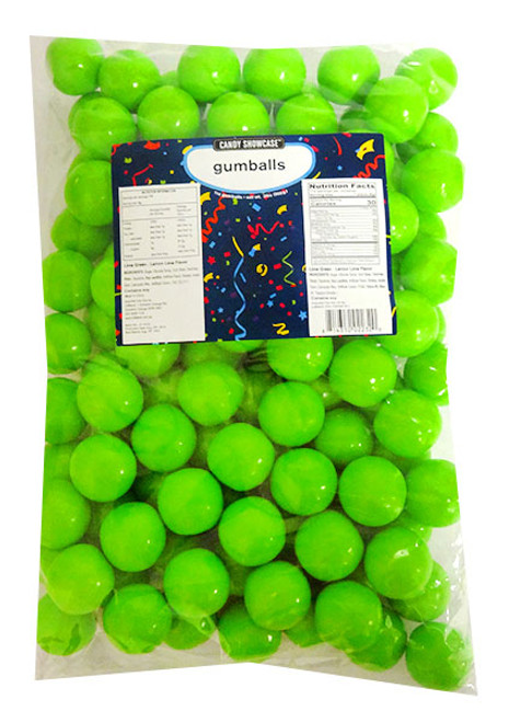 Candy Showcase Gumballs - Lime Green, by Lolliland,  and more Confectionery at The Professors Online Lolly Shop. (Image Number :14419)