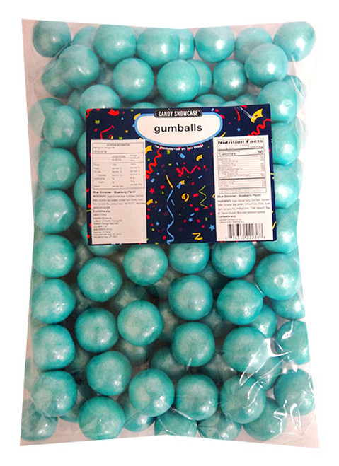 Candy Showcase Gumballs - Blue Shimmer, by Lolliland,  and more Confectionery at The Professors Online Lolly Shop. (Image Number :14409)
