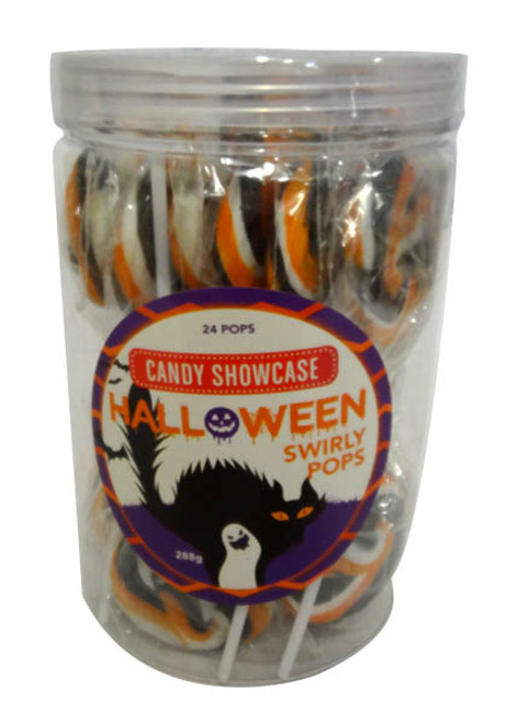 Halloween Swirl pops and more Confectionery at The Professors Online Lolly Shop. (Image Number :17111)