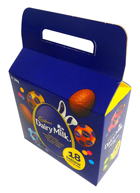 Cadbury Milk Chocolate Egg Carry Bag - 18 Hollow Eggs, by Cadbury,  and more Confectionery at The Professors Online Lolly Shop. (Image Number :14398)
