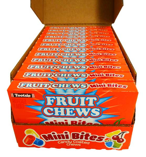 Fruit Chews Mini Bites, by Tootsie Roll Industries,  and more Confectionery at The Professors Online Lolly Shop. (Image Number :14541)