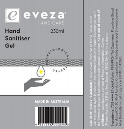 Eveza Hand Sanitiser Gel and more Other at The Professors Online Lolly Shop. (Image Number :14469)