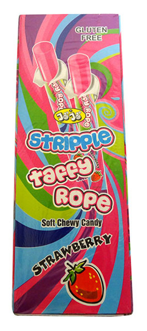 JoJo Stripple Taffy Rope - Strawberry and more Confectionery at The Professors Online Lolly Shop. (Image Number :14608)