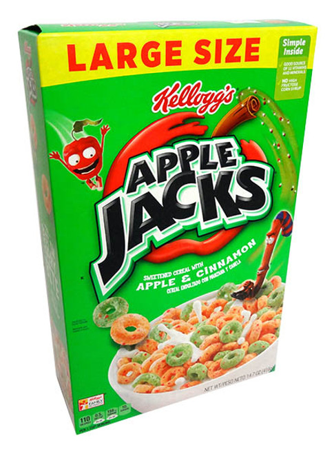 Kellogs Apple Jacks and more Snack Foods at The Professors Online Lolly Shop. (Image Number :14615)
