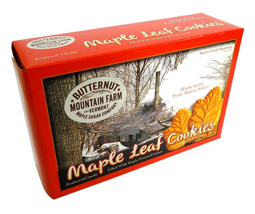 Maple Leaf Cream Cookies and more Snack Foods at The Professors Online Lolly Shop. (Image Number :14623)
