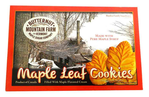Maple Leaf Cream Cookies and more Snack Foods at The Professors Online Lolly Shop. (Image Number :14624)