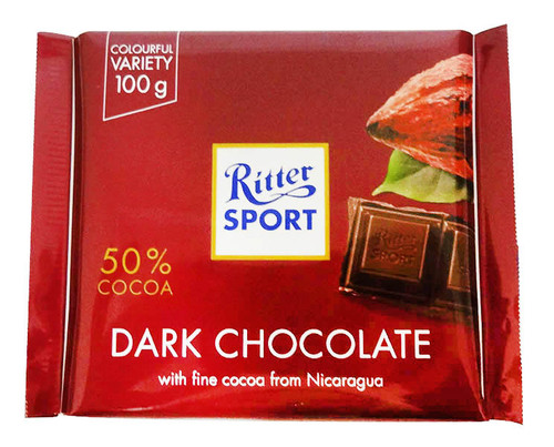 Ritter Sport Alpine Dark Chocolate Bars and more Confectionery at The Professors Online Lolly Shop. (Image Number :16522)
