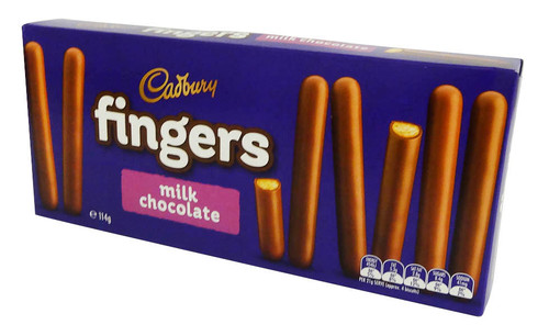 Cadbury Milk Chocolate Fingers and more Snack Foods at The Professors Online Lolly Shop. (Image Number :16005)