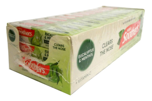 Nestle Soothers - Eucalyptus and Menthol Medicated lozenges, by Allens Confectionery,  and more Confectionery at The Professors Online Lolly Shop. (Image Number :16759)