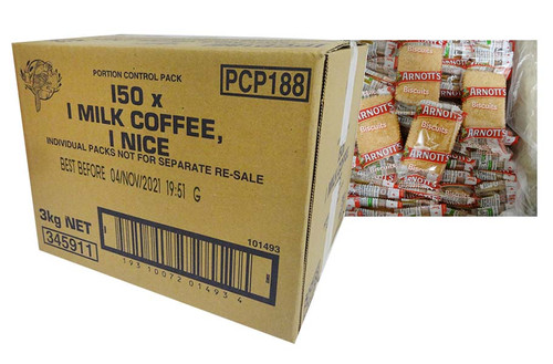 Arnotts - Milk Coffee and Nice portions (2 biscuits x 150 packs)