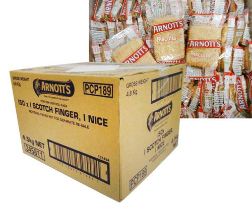 Arnotts - Scotch Finger and Nice portions (2 biscuits x 150 packs)