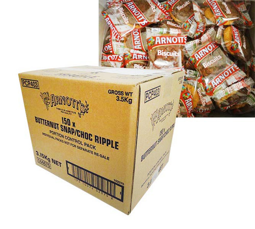 Arnotts - Butternut Snap and Choc Ripple Portions (2 biscuits x 150 packs)