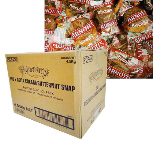 Arnotts - Butternut Snap and Delta Creams (2 biscuits x 150 packs)