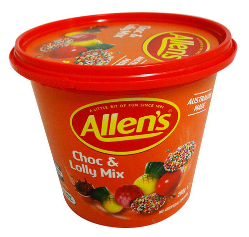 Allens Travel Cup - Choc & Lolly Mix (200g Cup)