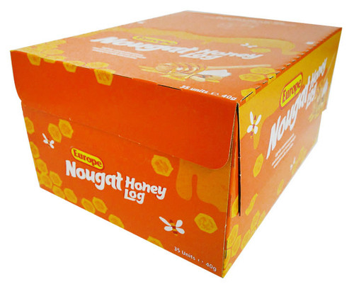 Europe Nougat Honey Logs, by Europe/Other,  and more Confectionery at The Professors Online Lolly Shop. (Image Number :15827)