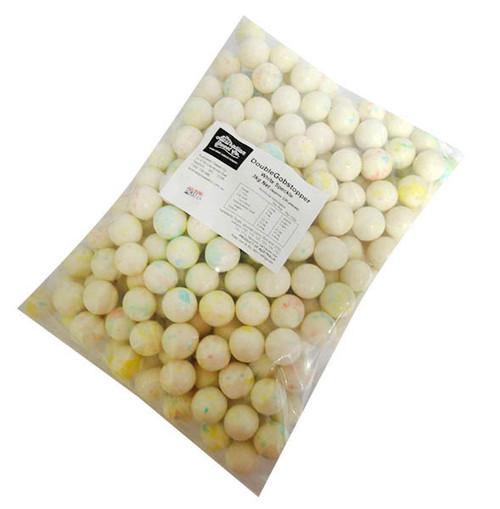 Gobstoppers - Doublegobstoppers - Speckled White  (13gr balls in a 3kg bag)